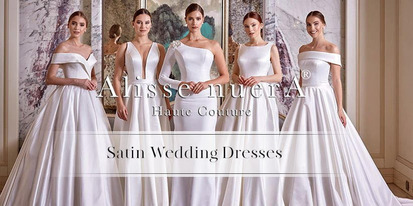 Be simple and stylish at your wedding with satin wedding dresses.